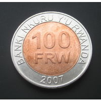 Руанда 100 франков. 2007г.