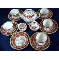 Винтажный Чайный Сервиз из японского костяного фарфора