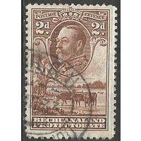 Бечуаналенд. Король Георг V. Стадо скота. 1932г. Mi#84.