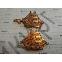 Значки кораблики (цена за оба)