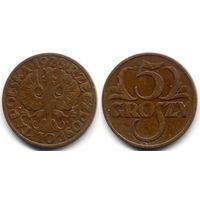 5 грошей 1928, Польша