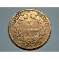 Франция 5 сантимов 1872