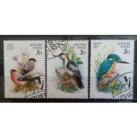 Венгрия птицы-1990-3 марочки