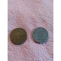 Испания 2 монеты 1944-45г. Каудильо Франсиско Франко