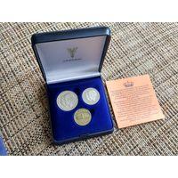 Нидерланды памятный набор в футляре 1980 с жетоном