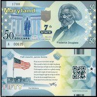 США - 50 Dollars - 7 штат Maryland - 2014 - Polymer - UNC