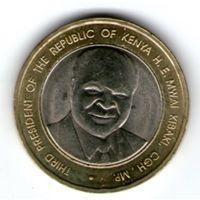 Кения 40 шиллингов 2003 года. 40 лет Независимости.