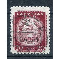 Латвия - 1941г. - Латвийская ССР, герб (20) - 1 марка - гашёная (Лот 89М). Без МЦ!