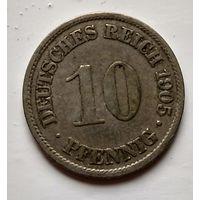 Германия 10 пфеннигов, 1905 A - Берлин 2-1-33