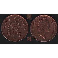 Великобритания _km935a 1 пенни 1994 год (обращ) (вар2) (h01)