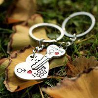 Брелок сердце и ключ