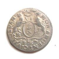 6 гданьских грошей 1763 Август III
