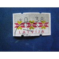 ЛАТВИЯ 1994 Автоматные марки Орнамент Mi # A1 4 почта