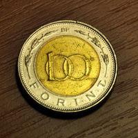 Венгрия, 100 форинтов 1997г., биметалл