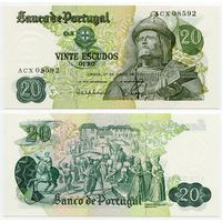 Португалия. 20 эскудо (образца 1971 года, P173, подпись 7, UNC)