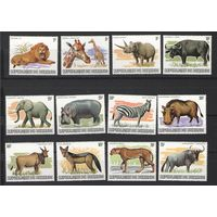 Почтовые марки Бурунди 1982 год (фауна)
