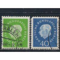 Германия Зап.Берлин 1959 Теодор Хойс бундеспрезидент Стандарт #183,185