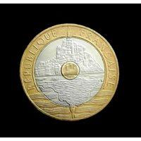 Франция 20 франков, 1992 года.