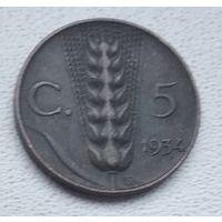 Италия 5 чентезимо, 1934  6-3-29