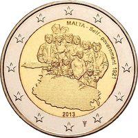 2 евро 2013 Мальта Собственное правительство 1921 года UNC из ролла