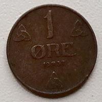 Норвегия 1 эре 1937
