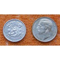 Люксембург 25 центов  и 1 франк 1972 года. Подписывайтесь! Много новых лотов в продаже!!!