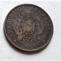 Аргентина 2 сентаво, 1891 4-15-14