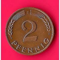 28-05 ФРГ, 2 пфеннига 1964 г (F)