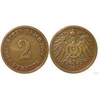 YS: Германия, Рейх, 2 пфеннига 1906D, KM# 16 (2)
