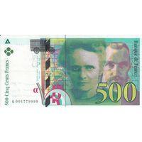 Франция 500 франков 1994