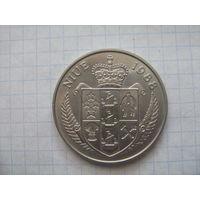 Ниуэ 5 долларов 1988г.