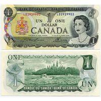Канада. 1 доллар (образца 1973 года, P85a, Lawson-Bouey, UNC)