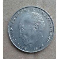 ФРГ монета 2 марки 1972