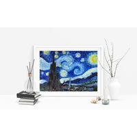 """Картина маслом """"Звёздная ночь"""" в стиле Ван Гога"""
