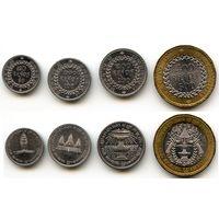 Камбоджа 50, 100, 200, 500 риель 1995 г. (KM#92, KM#93, KM#94, KM#95)