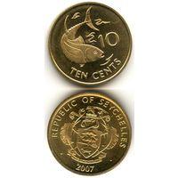Сейшелы 10 центов 2007 г. (Рыба, Рыбка, Рыбы, Сейшельские Острова)