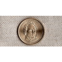 1 доллар 2010 США 15-й президент Джеймс Бьюкенен/(Sh)