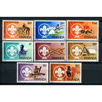 Руанда - 1983г. - Скаутское движение - полная серия, MNH [Mi 1206-1213] - 8 марок