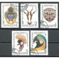 120 лет Московскому зоопарку СССР 1984 год серия из 5 марок