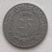 Суринам 25 центов 1966 г.