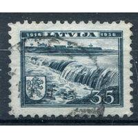 Латвия - 1938г. - 20-летие Латвийской Республики. Курземе - 1 марка - гашёная (Лот 87М). Без МЦ!
