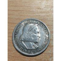 1/2 доллара 50 центов 1893 Колумб, отличный!