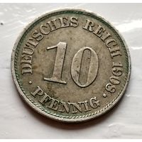 Германия 10 пфеннигов, 1908 A - Берлин 2-1-35