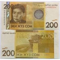 Киргизия. 200 сом (образца 2016 года, UNC) [серия CH]