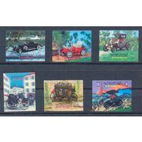 Йемен 1970 Автомобили-ветераны, 6 марок 3D - Объёмные