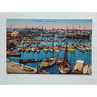 Корабли открытка Франция 9х14