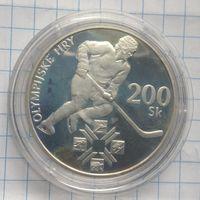 Словакия 200 крон 1994г серебро пруф