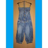 СНИЖЕНА ЦЕНА! Летний джинсовый комбинезон, р.44-46 (см. замеры!)