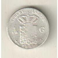 Голландская Индия 1/10 гульден 1858