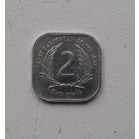 2 цента 1993 г. Восточные Карибы